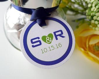 Modern Love Wedding Favor Tags