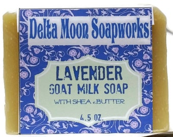 Lavender Soap, goat milk soap, ready to ship, shea butter soap, Galentines Day Gift, cold process soap, shaving soap, all natural soap