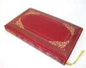 Hollow Book Safe The Sword of Fate, Secret Stash Compartment Jewelry Box Red Gold
