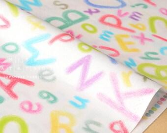 Japanese Fabric Yuwa Keiko Goke - ABC - pastel - 50cm