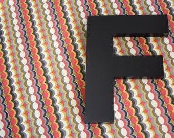 vintage LARGE metal letter F