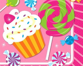 16ct. Candy Shop Sweet Treats Party Luncheon Napkins.-NEW