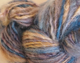 SEACOAST Handspun Wool Yarn Fleecespun Coopworth 120yds 3.1oz 7wpi aspenmoonarts knitting art yarn