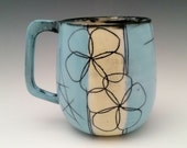 Ceramic Mug Floral Pattern Pottery Cup