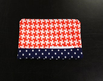 TUTONE vintage polyester zip pouch in Norway Feeling