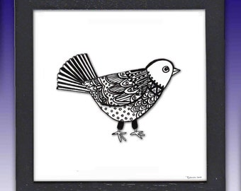 Framed Little Bird Print