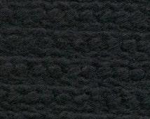 Boiled Wool Fabric Black