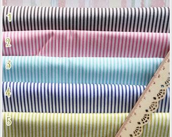 Half Yards 5 colors to choose Stripe Cotton Fabric