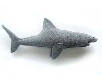 Grey Shark - Recycled Wool Plush Toy