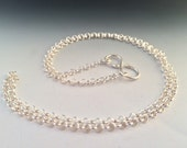 """23 Inch Sterling Silver 3.3mm Round Rolo Chain with Handmade """"S"""" Hook Closure"""