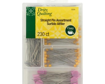 Dritz Quilting PINS - Straight Pin Assortment - Pack of 230