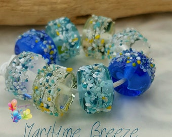 Lampwork Beads Martime Breeze Blossom Mix Limited Edition