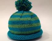 Teal + Green Newborn Knit...