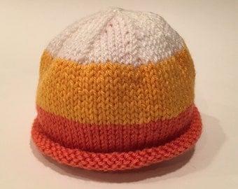Candy Corn Baby Hat - Custom Knit