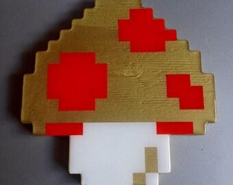 magic mushroom - super mario 3 wall art