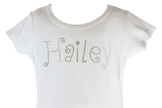 Design Your Own Personalized Bling Shirt For Girls Name
