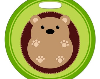 Luggage Tag - Hedgehog Belly Up - Round Large Plastic Bag Tag
