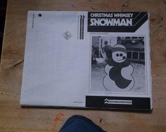 Christmas Whimsey Snowman Handy Plan Cutout Wood working pattern