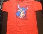 Chew Toy T-shirt in Orange- Sized Men's Large