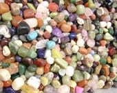 3399CL Gemstone Nugget Drilled Bead Mix, Natural, Dyed, pkg of 100 grams