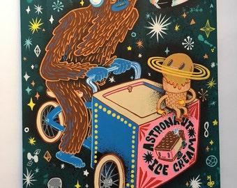 Bigfoot Astronaut Ice Cream guy
