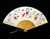 Japanese  Fan - Hand Fan - Sensu -  Bon Odori Traditional Summer Dance F147