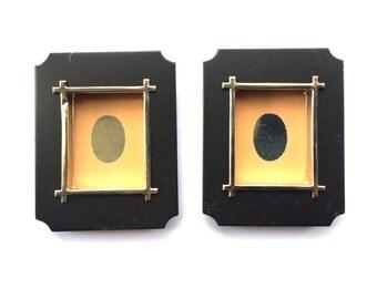 Japanese Door Pulls - Sliding Door Pulls - Pocket Door Pulls - Japanese Vintage Door Pulls Peach Black Gold (DP4-5