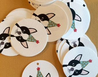 Birthday party boston terrier, sets of 20