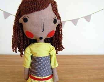 Rag Doll, African Doll, Handmade Girl Doll, Custom Doll, Ethnic Doll, Custom Portrait Doll, Art Doll, Girlfriend Gift, Anniversary Gift