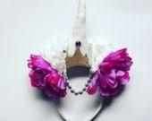 Unicorn Fantasy Floral Crown Christmas Head Dress Hair Band