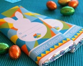 Instant Download - EASTER Chocolate Candy Bar Wrappers Printable (Blue)