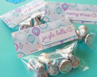 Instant Download - Jingle Bells Treat Bag Toppers - DIY Printable