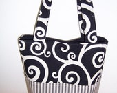 SALE Purse PDF Sewing Pattern - Aivilo Pocket Tote Bag -  4 Sizes - easy to sew - instant download