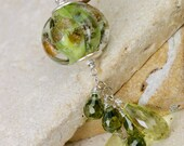 Feuilles ~ Glass Lampwork Necklace