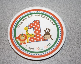 ZOO Favor Tags / Zoo Party Tags / Zoo Birthday Tags / Zoo Birthday Party / Jungle Birthday / Zoo Birthday / Zoo Animal Tags / SET of 12