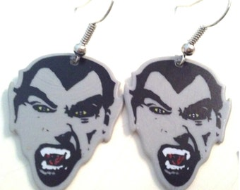 Vampire guitar pick earrings