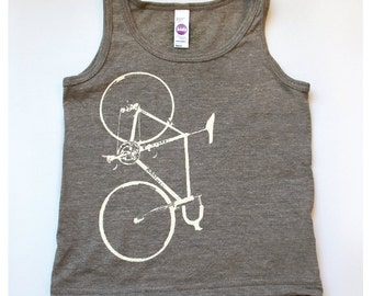 Kids Bike Tank Top Bicycle Screenprint