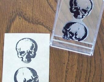 Xmas in July Anatomical Skulls Human Anatomy Medical Illustration Rubber Stamp 068