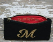 Gift For Mom Monogram Clutch Purse, Personalized Womens Gift, Clutch Purse, You Are My Person Bag, You are My Sunshine Clutch, Best Mom Ever