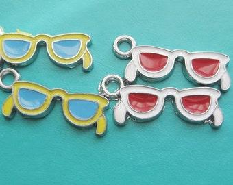 sunglasses metal charms x 2