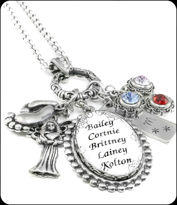 children birthstone jewelry s necklace mothers birthstone necklace children s 7183