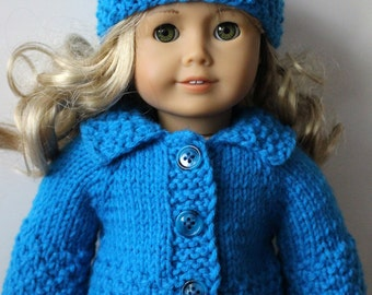 Cotton Candy Knitting Pattern for AMERICAN GIRL 18 inch doll  (019)