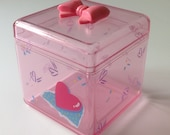 Vintage Sanrio Pink Heart Bow Box 1987