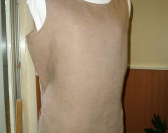 Linen Tank Top Mocha Brown XL
