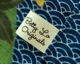 Vintage cotton labels cloth labels cotton tags PRE-CUT 100 pcs