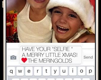 "Christmas Card ""Selfie"" Digital Design"