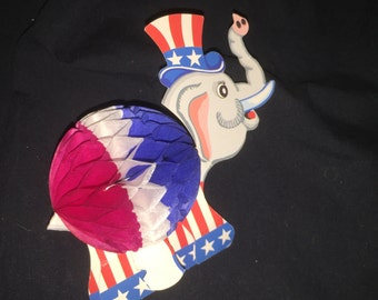 Political Honeycomb Elephant Decoration