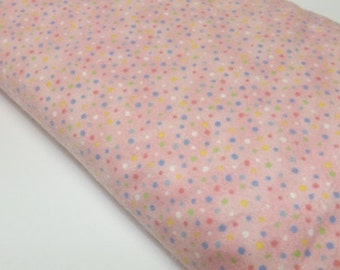 Kiddy Flannel Baby Girl Pink Dots  Quilting Sewing Fabric Quilters Davids Textiles Flannel Sewing Fabrics