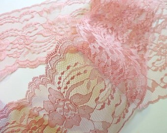 DuSTY RoSE LaCE 3 yds - 4 in. wide - Wedding - Table Runners - INVITATIONS - apparel trim
