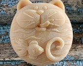 Fat Cat Goat's Milk Soap, Cat Soap,  Fat Cat Soap, Scented Goat's Milk Soap, Homemade Soap, Montana Made Soap